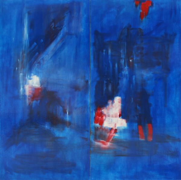 Carolina Khouri-Abstract In Blue_No Title-2011