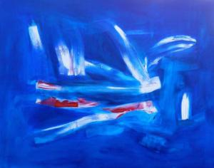 Abstact in Blue no 6_Terton_oil on canvas_122 cm x 152.5cm_2014