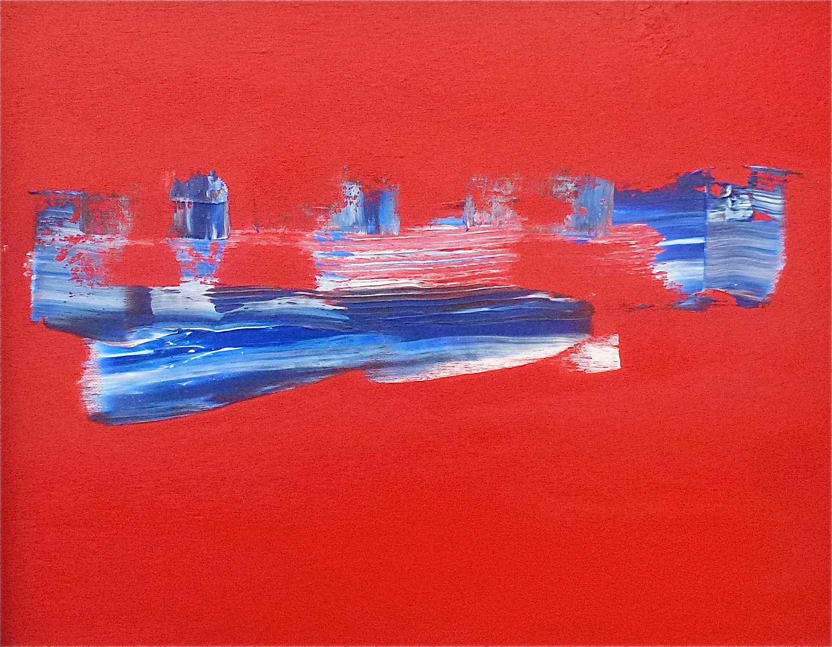 C.Khouri_Abstract in Red no 3_oil on canvas_40cm x 50cm_2015