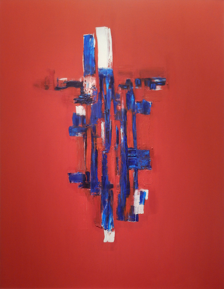 C.Khouri_Abstract in Red no 5_oil on canvas_152.5cm x 122cm_2016